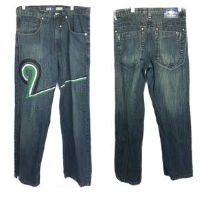 South Pole sz 32 9 embroidered jeans straight blue